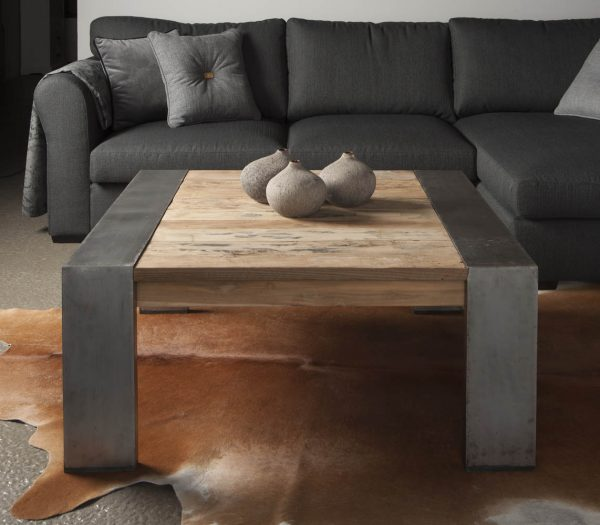 Industriële salontafel 100x100cm